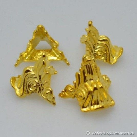 Legs box `Frog carved 1`, Material: metal. Size: 21*21*20mm. Color: gold 120 RUB4 pieces set.