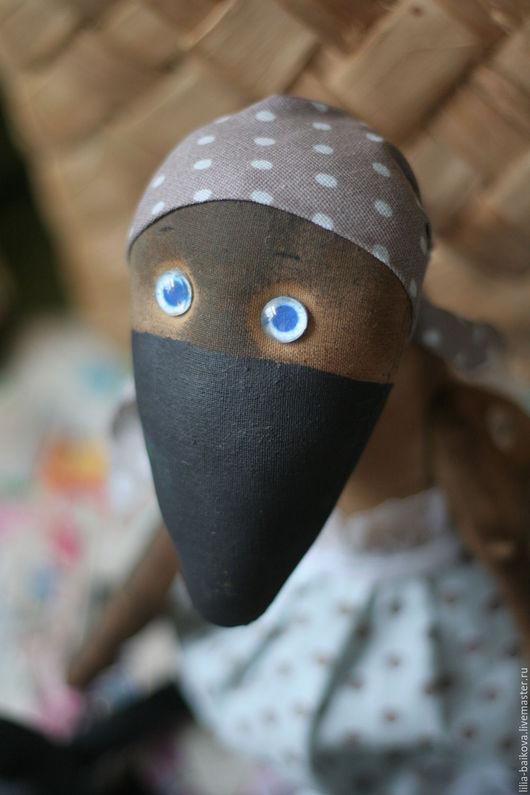 Ароматизированные куклы ручной работы. Ярмарка Мастеров - ручная работа. Купить ворона Карла. Handmade. Серый, сувениры и подарки, графит