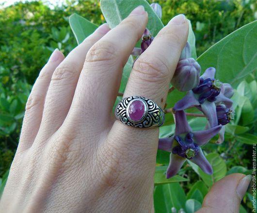 Кольца ручной работы. Ярмарка Мастеров - ручная работа. Купить Колечко деликатное с рубином из серебра 925. Handmade.