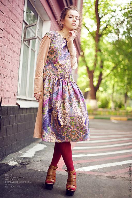 """Платья ручной работы. Ярмарка Мастеров - ручная работа. Купить Платье """"Вельвет"""". Handmade. Коричневый, женская одежда"""