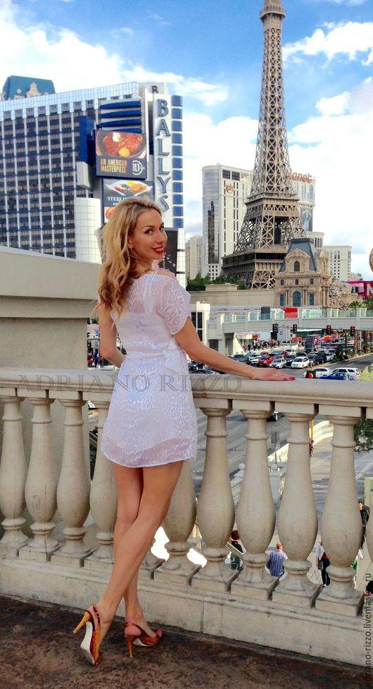 """Платья ручной работы. Ярмарка Мастеров - ручная работа. Купить Платье """"Вдохновение"""" из 100% шёлка. Handmade. Белый, итальянские ткани"""