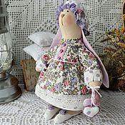 Куклы и игрушки ручной работы. Ярмарка Мастеров - ручная работа Тильда заюшка в платье  - текстильная интерьерная игрушка. Handmade.