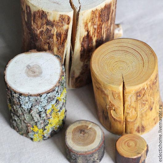Подсвечники ручной работы. Ярмарка Мастеров - ручная работа. Купить Пеньки из дерева. Handmade. Серый, береста, подставка под горячее