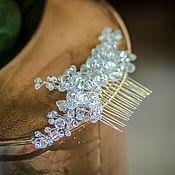 Свадебный салон handmade. Livemaster - original item Wedding comb. Crystal.. Handmade.
