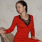 """Платья ручной работы. Ярмарка Мастеров - ручная работа Платье """"Страстный поцелуй"""". Handmade."""