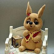 """Куклы и игрушки ручной работы. Ярмарка Мастеров - ручная работа зайка """"ПЕРСИК"""". Handmade."""