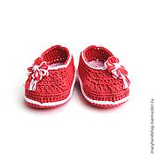 Работы для детей, ручной работы. Ярмарка Мастеров - ручная работа Пинетки «Коралловые туфли». Handmade.