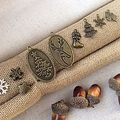 """Отделка для шитья ручной работы. Ярмарка Мастеров - ручная работа Шармики """"Новогодние"""", 8 видов. Handmade."""