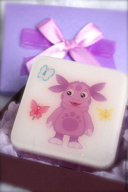 Мыло ручной работы. Ярмарка Мастеров - ручная работа. Купить Мыло Лунтик в подарочной коробочке - подарок ребенку. Handmade.