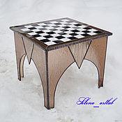 Сувениры и подарки ручной работы. Ярмарка Мастеров - ручная работа Столик шахматный. Handmade.