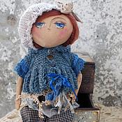Куклы и игрушки ручной работы. Ярмарка Мастеров - ручная работа Девочка в синем. Кукла. Handmade.