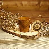 Посуда handmade. Livemaster - original item Wooden glass Textured Siberian Elm #R11. Handmade.