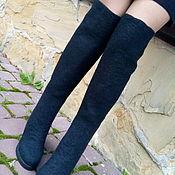 Обувь ручной работы. Ярмарка Мастеров - ручная работа Ботфорты черные шерстяные Чулочки. Handmade.