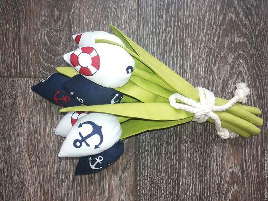 Цветы ручной работы. Ярмарка Мастеров - ручная работа. Купить Тюльпаны из ткани. Handmade. Тёмно-синий, тюльпаны, тюльпаны из ткани