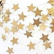 Свадебный салон ручной работы. Ярмарка Мастеров - ручная работа Гирлянды Золотые звезды. Handmade.