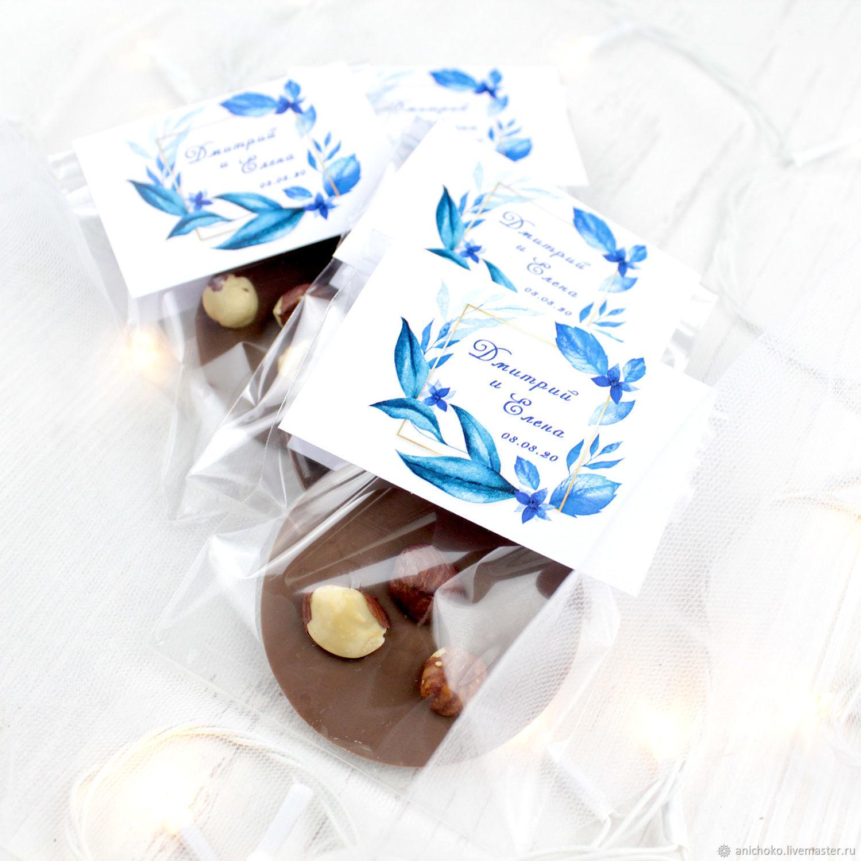 Бонбоньерки свадебные: шоколадные медианты, Бонбоньерки, Москва,  Фото №1