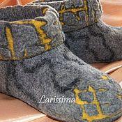 Slippers handmade. Livemaster - original item Shoes homemade in the technique of carving. Handmade.