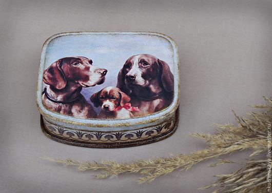 """Шкатулки ручной работы. Ярмарка Мастеров - ручная работа. Купить Шкатулка """" Вместе"""". Handmade. Шкатулка, собаки, для любителей собак"""