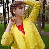 """Одежда ручной работы. Ярмарка Мастеров - ручная работа Жакет валяный """"Солнце"""". Handmade."""