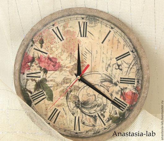 "Часы для дома ручной работы. Ярмарка Мастеров - ручная работа. Купить Часы настенные ""Винтаж"". Handmade. Часы настенные"