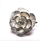 Украшения ручной работы. Ярмарка Мастеров - ручная работа Женское кольцо из серебра 925 пробы Роза. Handmade.