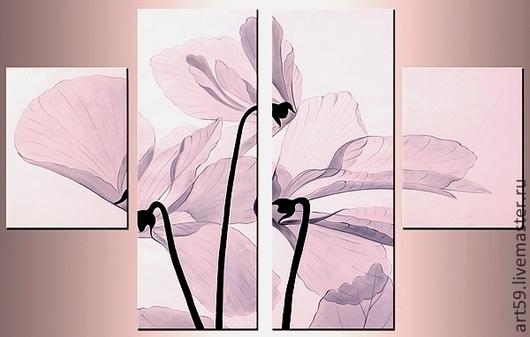 """Картины цветов ручной работы. Ярмарка Мастеров - ручная работа. Купить """" Цветы в нежно-пастельных тонах"""". Handmade. Кремовый"""