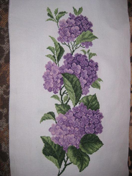 Картины цветов ручной работы. Ярмарка Мастеров - ручная работа. Купить картина. Handmade. Фиолетовый, картина с цветами, Вышивка крестом