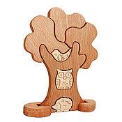 Куклы и игрушки ручной работы. Ярмарка Мастеров - ручная работа Деревянный пазл Дерево. Handmade.