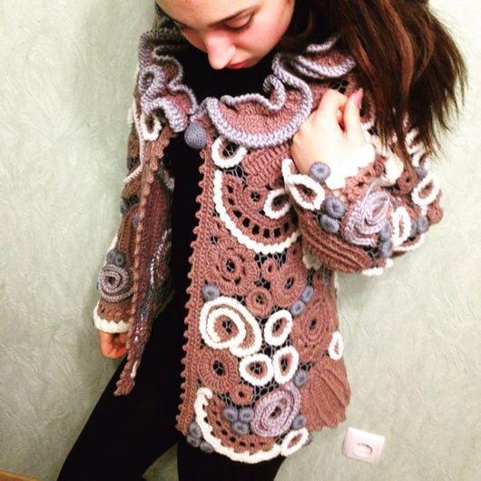 """Пиджаки, жакеты ручной работы. Ярмарка Мастеров - ручная работа. Купить Жакет вязаный  """" Одри Хепбёрн """". Handmade."""