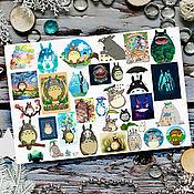 Материалы для творчества handmade. Livemaster - original item Stickers anime anime Miyazaki Hayao Miyazaki. Handmade.