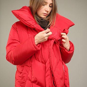 Одежда ручной работы. Ярмарка Мастеров - ручная работа Пуховик-Одеяло Красный 70см. Handmade.