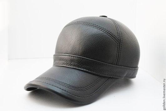 Бейсболки ручной работы. Ярмарка Мастеров - ручная работа. Купить Бейсболка  0168  из натуральной кожи. Handmade. Черный, Мужские шапки
