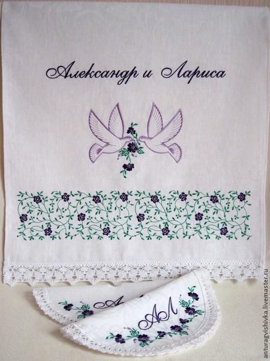 Венчальный набор, Рушник для венчания, салфетки для венчания, Венчальный рушник, Рушник с вышивкой, Свадебный рушник