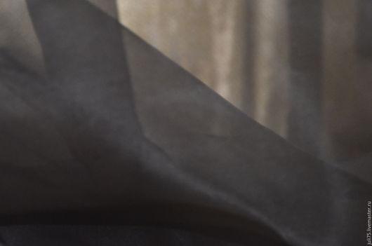 Вышивка ручной работы. Ярмарка Мастеров - ручная работа. Купить Органза шелковая, Италия. Handmade. Черный, органза, шелк натуральный