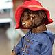 Мишки Тедди ручной работы. Мишка в красной шляпке. Марина Струк. Ярмарка Мастеров. Плюшевый мишка, плюш