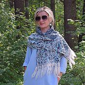 Аксессуары handmade. Livemaster - original item Scarf felted on silk Turquoise crazy, women`s scarf. Handmade.