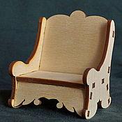 Материалы для творчества ручной работы. Ярмарка Мастеров - ручная работа Кресло из фанеры - кукольная мебель. Handmade.