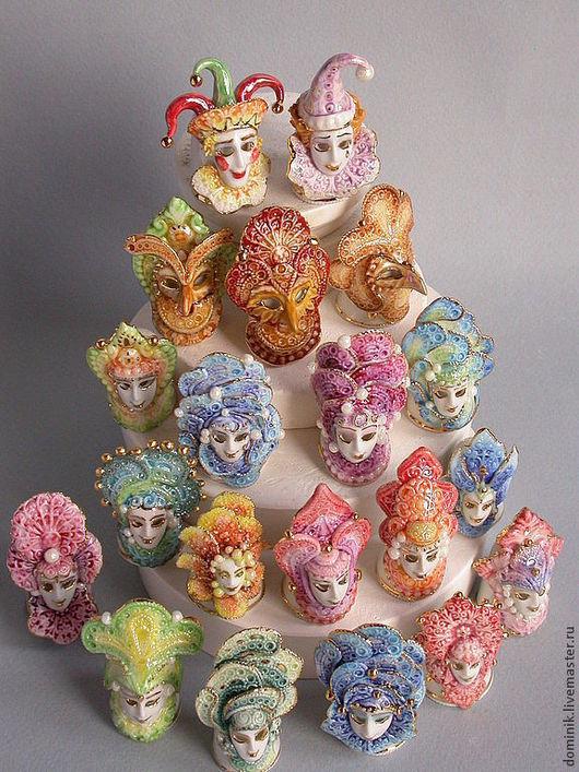 Интерьерные  маски ручной работы. Ярмарка Мастеров - ручная работа. Купить Венецианская маска - коллекционные напёрстки. Handmade. Наперстки, люстр