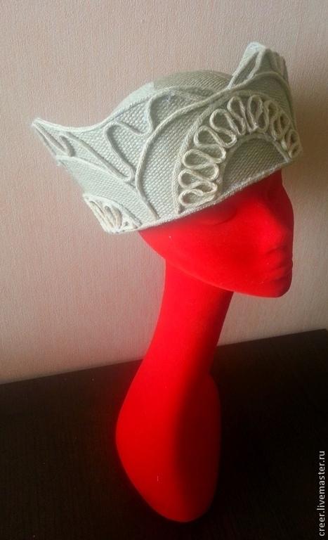 """Шляпы ручной работы. Ярмарка Мастеров - ручная работа. Купить Шляпка """"Руа"""". Handmade. Бежевый, соломенная шляпка, шляпка для фотосесии"""