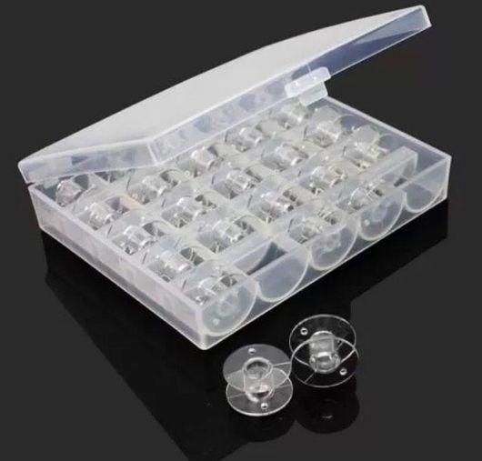 Шитье ручной работы. Ярмарка Мастеров - ручная работа. Купить Набор: коробка со шпульками (25 штук). Handmade. Органайзер