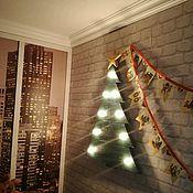 Подарки к праздникам ручной работы. Ярмарка Мастеров - ручная работа Елка новогодняя из дерева с лампочками. Handmade.