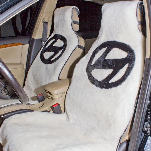 """Автомобильные ручной работы. Ярмарка Мастеров - ручная работа. Купить Накидки на сидения из овчины для """"Хендай"""" Код: 106. Handmade."""