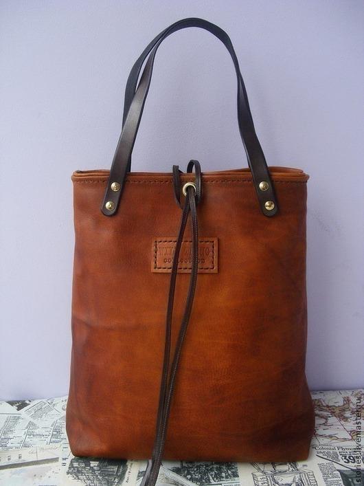 Женские сумки ручной работы. Ярмарка Мастеров - ручная работа. Купить Сумка из натуральной кожи рыжая Wild Fox. Handmade.