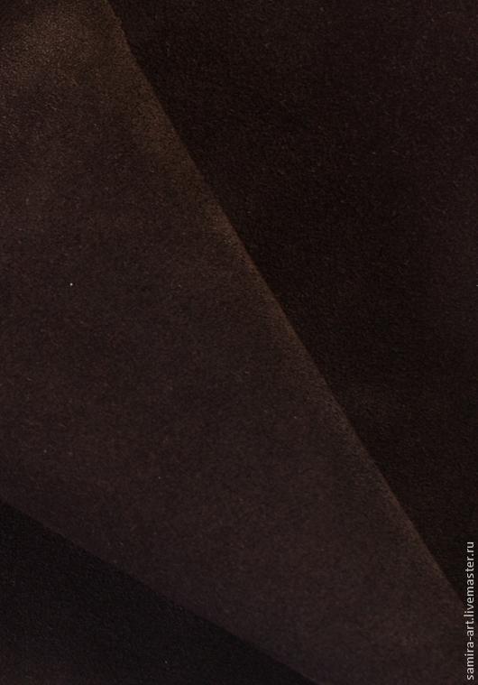 Шитье ручной работы. Ярмарка Мастеров - ручная работа. Купить Замша коричневая  натуральная. Handmade. Коричневый, кожа, кожа натуральная