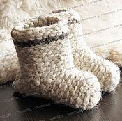 Обувь ручной работы handmade. Livemaster - original item Chuni sheep wool, white # №2. Handmade.