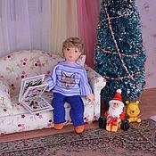Куклы и игрушки ручной работы. Ярмарка Мастеров - ручная работа Кукла миниатюрная  подвижная 9 см.. Handmade.