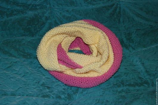 Шарфы и шарфики ручной работы. Ярмарка Мастеров - ручная работа. Купить Теплый, яркий, вязанный снуд-шарф. Handmade.