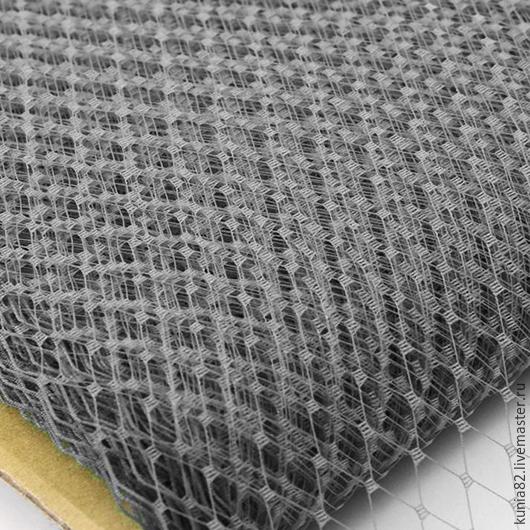 Вуаль для шляп цвет СЕРЫЙ полуфабрикат для изготовления шляп и головных уборов. Анна Андриенко. Ярмарка Мастеров.