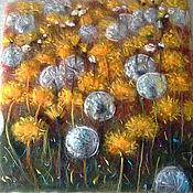 Картины и панно handmade. Livemaster - original item Sea of dandelions. Handmade.