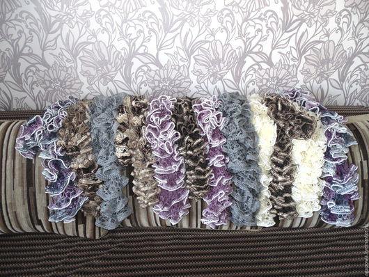 Шарфы и шарфики ручной работы. Ярмарка Мастеров - ручная работа. Купить французский шарфик. Handmade. Комбинированный, ажурный шарфик, осень